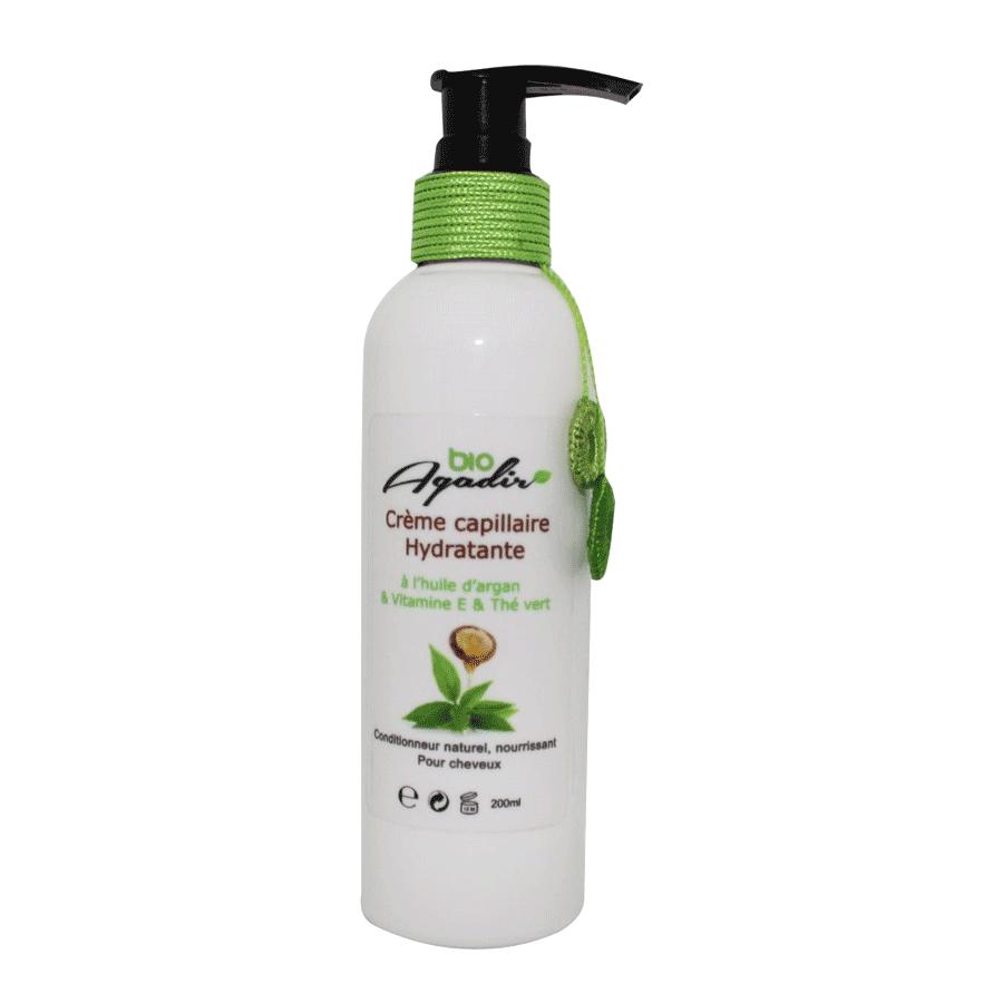 Crème Capillaire Hydratante à l'Argan et Thé Vert