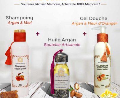 Pack Douche Oriental Argan, Miel & fleur d'Oranger